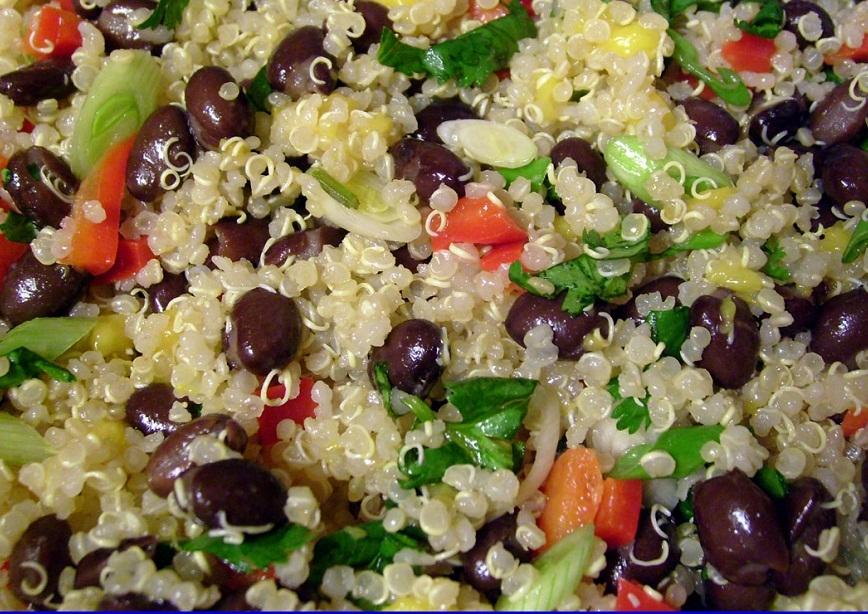 ... quinoa and black bean salad red quinoa and black bean vegetable salad